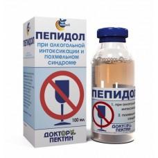 Пепидол при алкогольной интокикации и похмельном синдроме 5% 100мл.